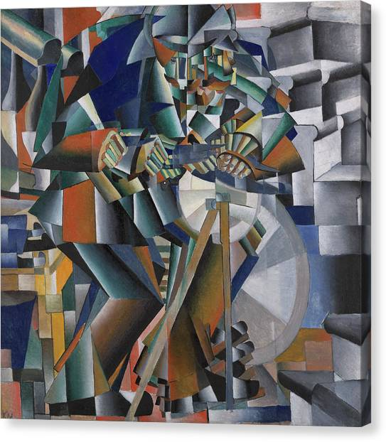 Suprematism Canvas Print - The Knife Grinder Or Principle Of Glittering by Kazimir Malevich