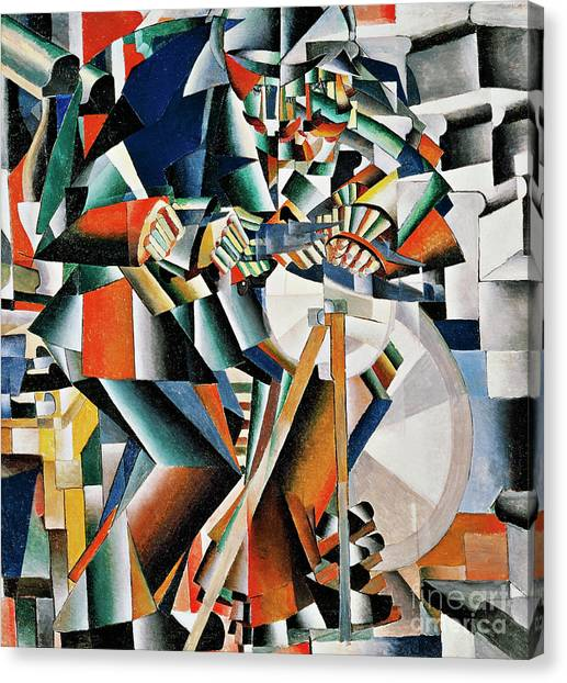 Rayonism Canvas Print - The Knifegrinder Principle Of Glittering by Kazimir Malevich