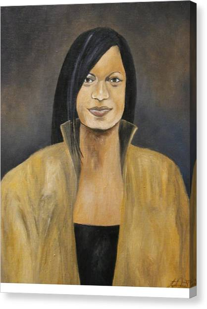 The Lady In Gold  Canvas Print by Angelo Thomas