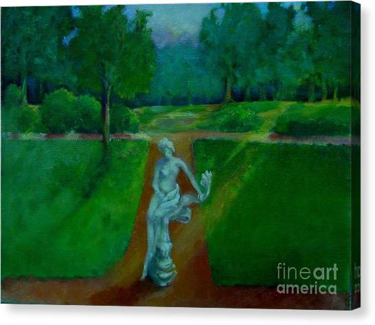 The Lady In The Park     Copyrighted Canvas Print by Kathleen Hoekstra