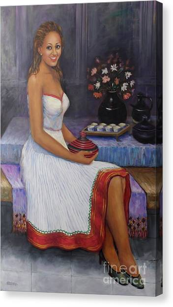 The Lady In Waiting Canvas Print
