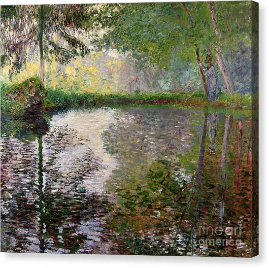 Impressionism Canvas Print - The Lake At Montgeron by Claude Monet
