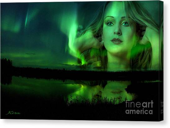 The Lake Is Her Mirror Canvas Print