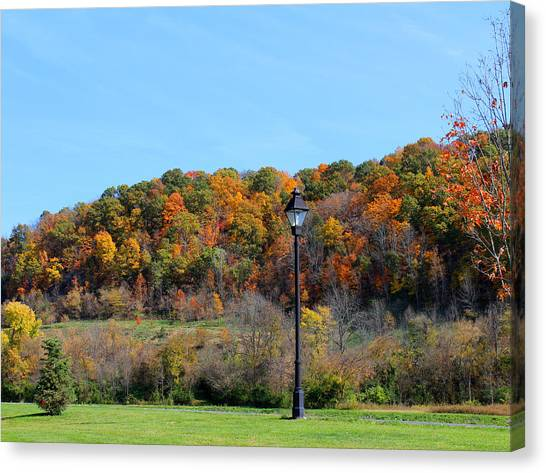 Ohio University Canvas Print - The Lamppost  by Lorraine Baum