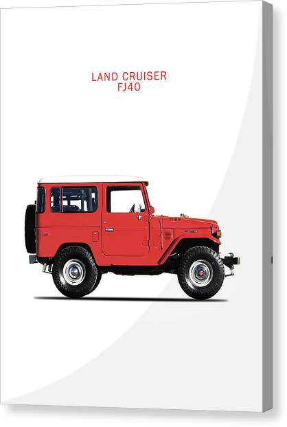 Toyota Canvas Print - The Land Cruiser Fj40 by Mark Rogan