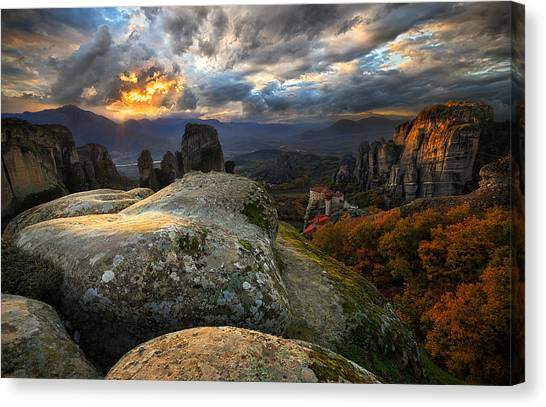 Monastery Canvas Print - The Land Of Wonders by Cristian Kirshbom