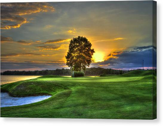 The Landing Golf Course Reynolds Plantation Landscape Art Canvas Print