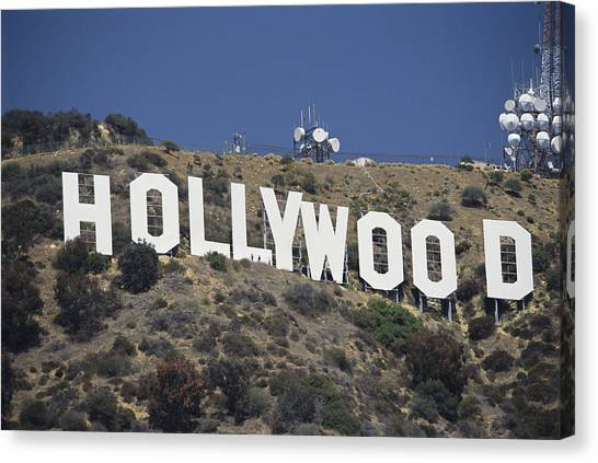 United Way Canvas Print - The Landmark Hollywood Sign by Richard Nowitz