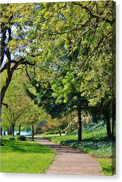 The Lane At Waverly Pond Canvas Print