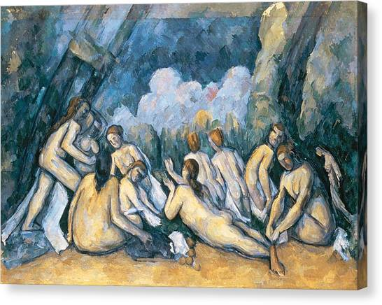 1900 Canvas Print - The Large Bathers by Paul Cezanne