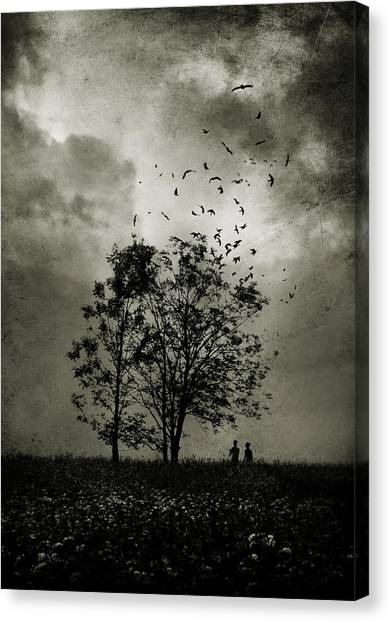 Raven Canvas Print - The Last Day by Cambion Art