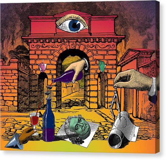 Dada Art Canvas Print - The Last Days Of Herculaneum by Eric Edelman