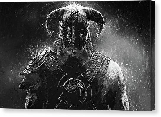 Xbox Canvas Print - The Last Dragonborn - Skyrim by Taylan Soyturk