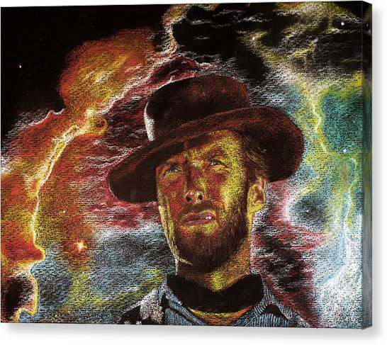 The Last Gunslinger Canvas Print by Matthew Fredricey