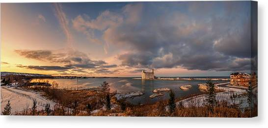 The Last Ice On The Bay Canvas Print