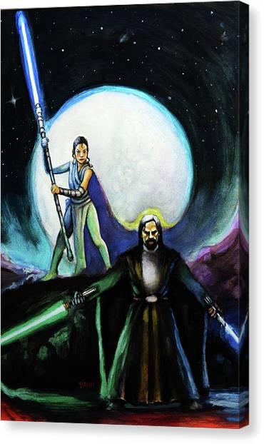 Padawan Canvas Print - The Last Jedi by Chris Bahn