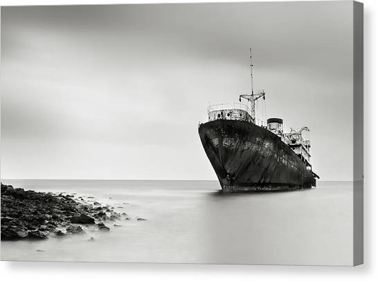 Ships Canvas Print - The Last Journey by Inigo Barandiaran