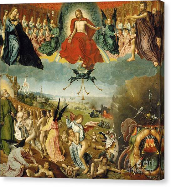 Sin Canvas Print - The Last Judgement by Jan II Provost