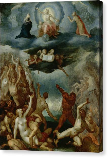 Purgatory Canvas Print - The Last Judgement  by Martin Pepyn