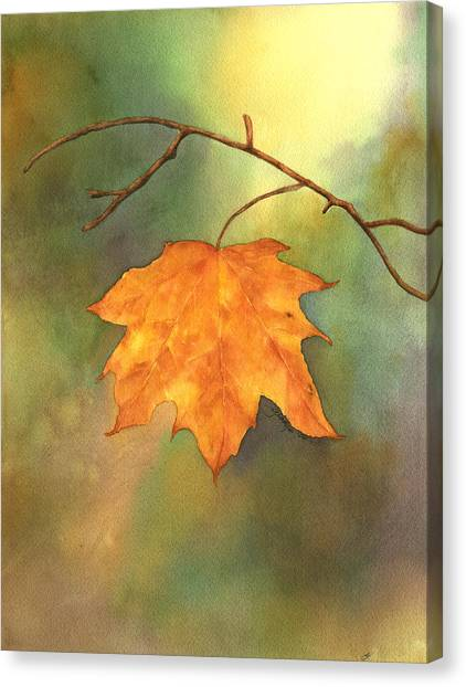 The Last Leaf Canvas Print by Gladys Folkers
