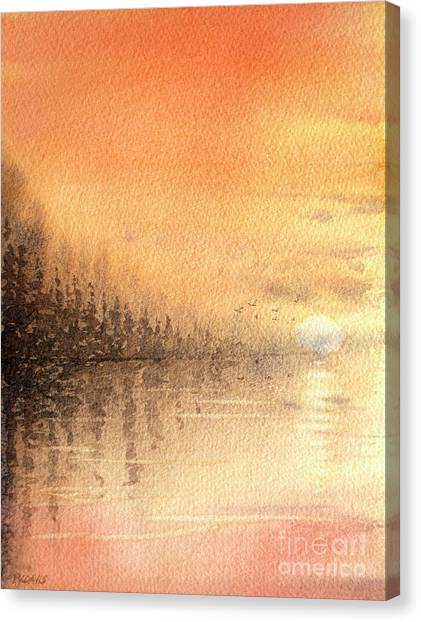 The Last Of Autumn Canvas Print
