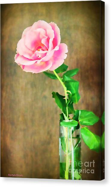 The Last One Rose Canvas Print by Roberta Byram