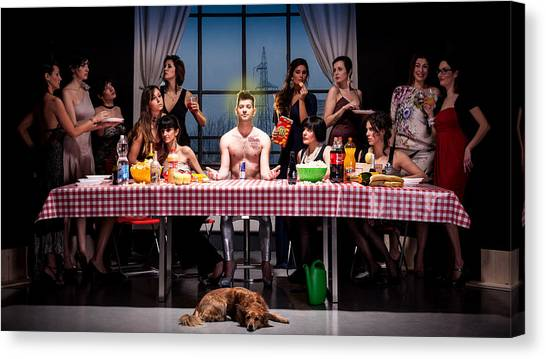 Tables Canvas Print - The Last Snack by Gianluca Fabrizio