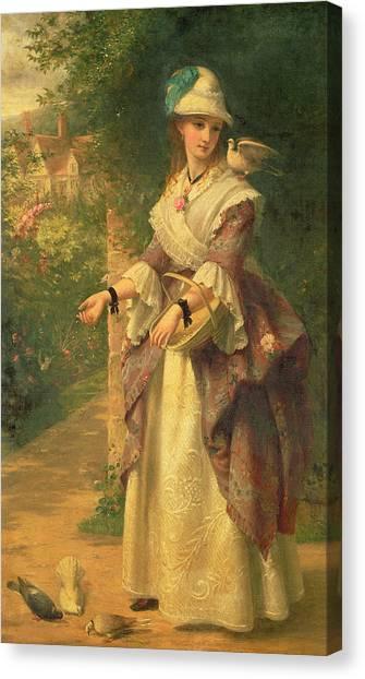 Victorian Garden Canvas Print - The Last Summer Days by Thomas Brooks