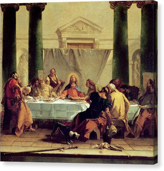 Dinner Table Canvas Print - The Last Supper by Giovanni Battista Tiepolo