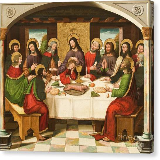 Host Canvas Print - The Last Supper by Master of Portillo