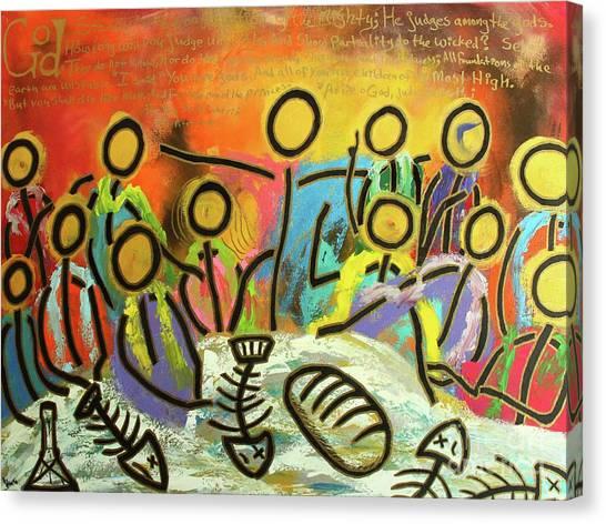 The Last Supper Recitation Canvas Print