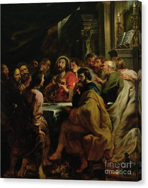 Dinner Table Canvas Print - The Last Supper by Rubens