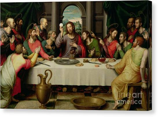 Religious Canvas Print - The Last Supper by Vicente Juan Macip