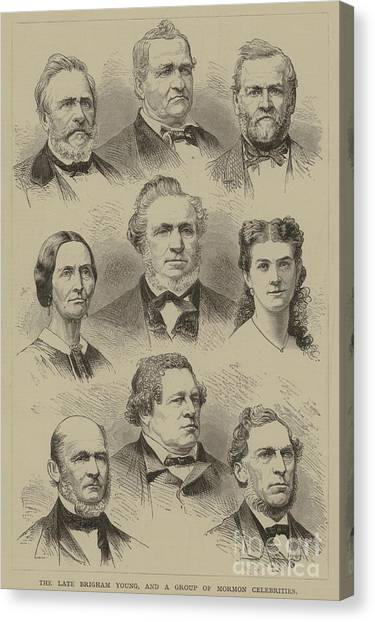 Independent Canvas Print - The Late Brigham Young, And A Group Of Mormon Celebrities by American School