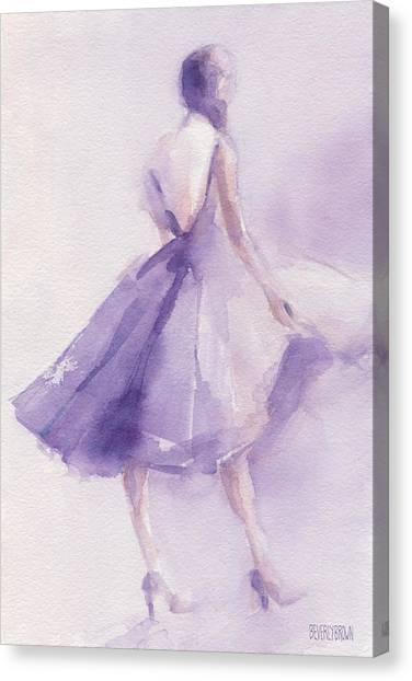 The Lavender Dress Canvas Print by Beverly Brown
