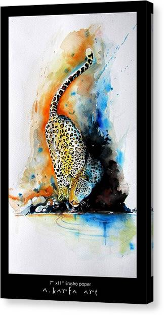 Leapords Canvas Print - The Leapord by Arundhati Karfa