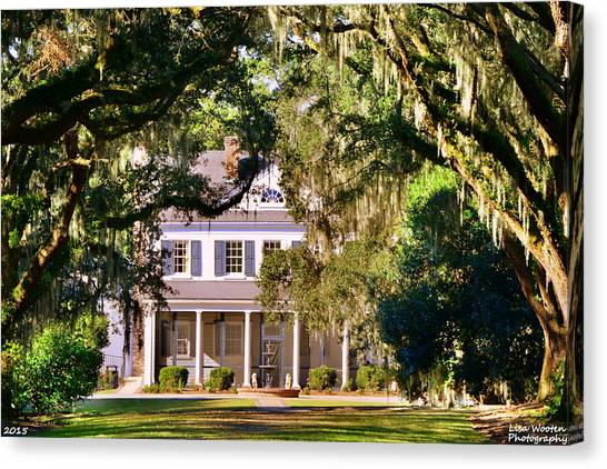 The Legare-waring House At Charles Town Landing Canvas Print
