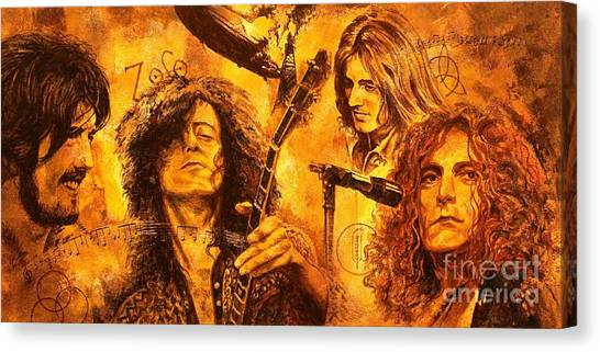 Led Zeppelin Canvas Print - The Legend by Igor Postash