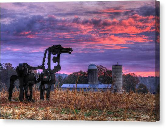 University Of Georgia Canvas Print - The Legend Lives On The Iron Horse Art by Reid Callaway