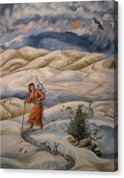 The Legend Of Lame Rabbit Canvas Print