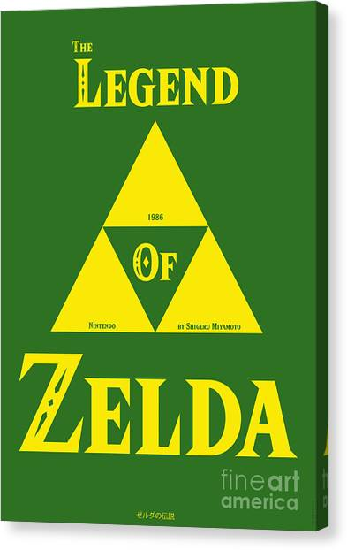Playstation Canvas Print - The Legend Of Zelda by Stefano Senise