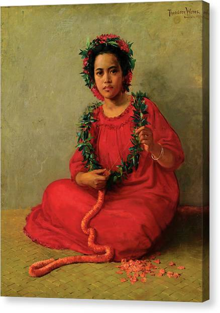 The Lei Maker Canvas Print