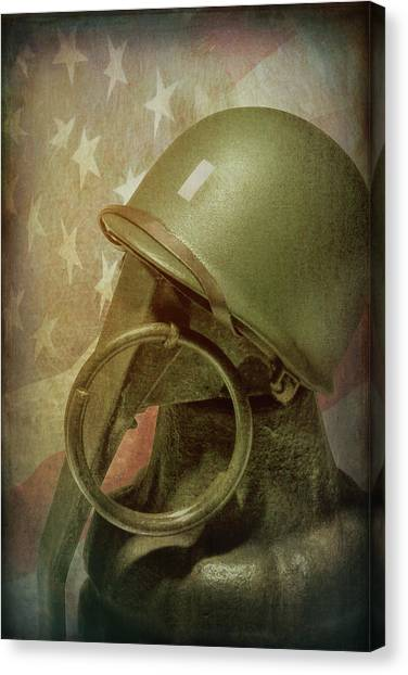 Bombs Canvas Print - The Lieutenant by Tom Mc Nemar