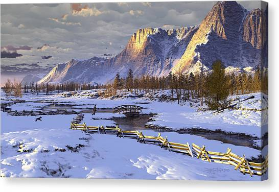 The Life Of Snow Canvas Print