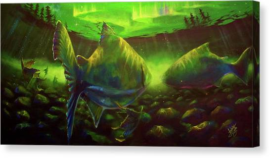 Salmon Canvas Print - The Light At The End Of The Tunnel  by Yusniel Santos