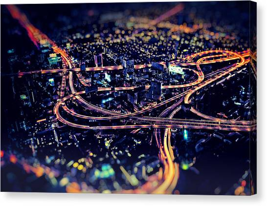The Light Curves Canvas Print