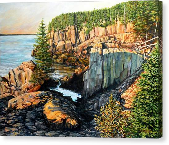 The Light Dawns On West Quoddy Head Canvas Print