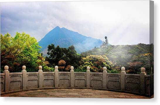 The Light Of Buddha Canvas Print