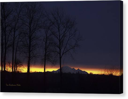 The Light On The Mountain Canvas Print