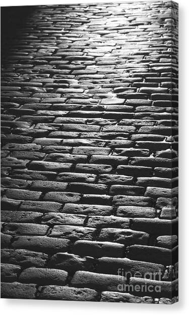 The Light On The Stone Pavement Canvas Print by Hideaki Sakurai